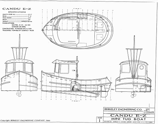 Candu E Z Mini Tugboat Plans Tugboats